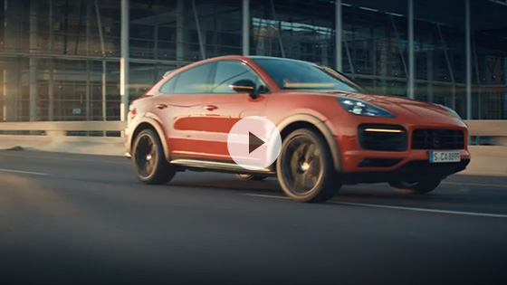 Driving footage Cayenne Coupé
