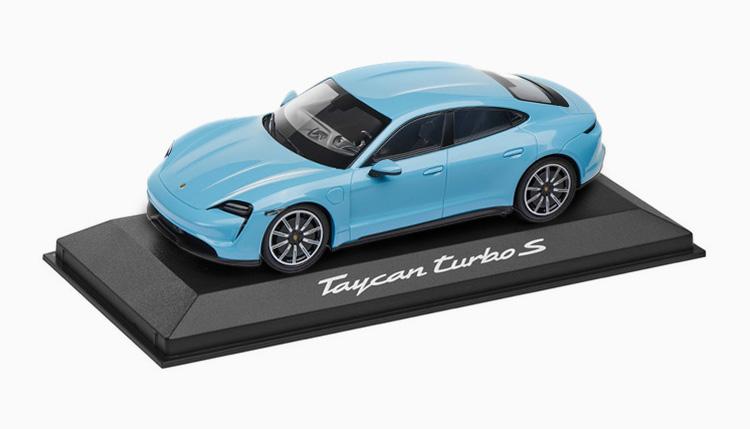 タイカン ターボ S ミニカー ブルー
